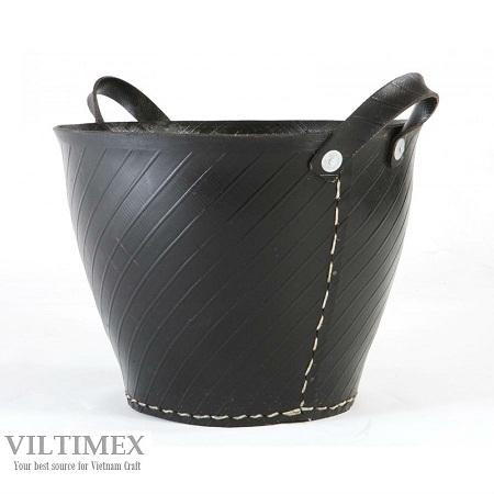 Black Recycle Tyre Trug